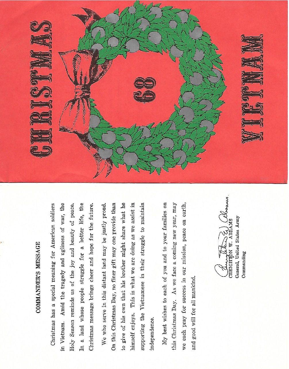 Christmas Dinner 1968 RVN
