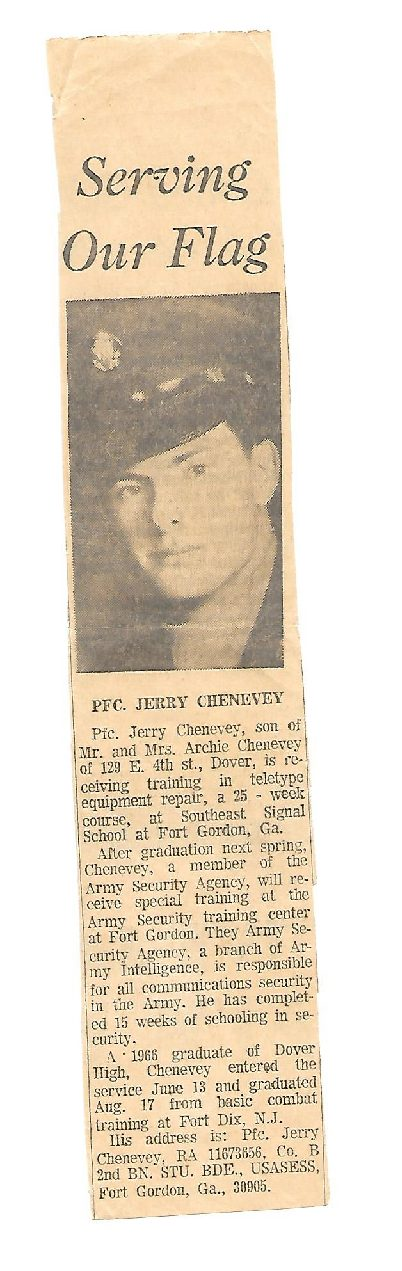 Serving our Flag PFC Jerry Chenevey